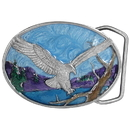 Siskiyou Buckle A15E Small Eagle Landing Enameled Belt Buckle