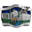 Siskiyou Buckle A20E Alaska Is What America Enameled Belt Buckle