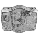 Siskiyou Buckle A20 Alaska Is What America Antiqued Belt Buckle