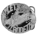 Siskiyou Buckle A258E Belt Buckle -Let's Rodeo Enameled Belt Buckle