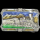 Siskiyou Buckle A29E Steam Locomotive - Enameled Belt Buckle