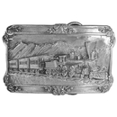 Siskiyou Buckle A29 Steam Locomotive - Antiqued Belt Buckle