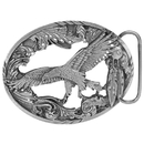 Siskiyou Buckle A2CD Eagle with Feathers Antiqued Belt Buckle