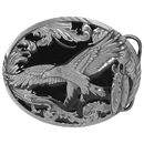 Siskiyou Buckle A2D Scroll Eagle (Diamond Cut) Enameled Belt Buckle