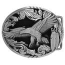 Siskiyou Buckle A2E Western Eagle/Feathers - Enameled Belt Buckle