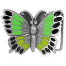 Siskiyou Buckle A34BE Butterfly Green Enameled Belt Buckle