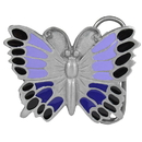 Siskiyou Buckle A34E Purple Butterfly Enameled Belt Buckle