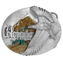 Siskiyou Buckle A43E Colorado - State - Enameled Belt Buckle