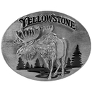Siskiyou Buckle A47E Yellowstone Moose - Enameled Belt Buckle