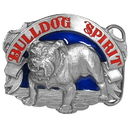 Siskiyou Buckle A8E Bulldog Spirit Enameled Belt Buckle
