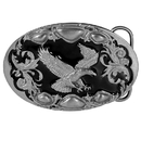 Siskiyou Buckle A99D Flying Eagle (Diamond Cut) Enameled Belt Buckle