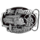 Siskiyou Buckle AG13E Fire Fighter - Enameled Belt Buckle