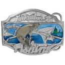 Siskiyou Buckle AG26E I'd Rather Be Fishing - Enameled Belt Buckle