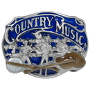 Siskiyou Buckle AG34E Country Music - Enameled Belt Buckle