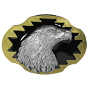 Siskiyou Buckle AG44G Eagle's Profile Vivatone Belt Buckle