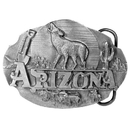 Siskiyou Buckle Arizona Howling Wolf Antiqued Belt Buckle, AG48