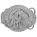 Siskiyou Buckle Volunteer Fire Fighter Antiqued Belt Buckle, AG49