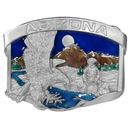 Siskiyou Buckle AG7E Arizona Eagle Enameled Belt Buckle