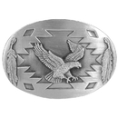 Siskiyou Buckle Flying Eagle with Feathers Antiqued Belt Buckle, AG87