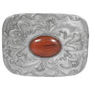 Siskiyou Buckle AS1D Pink Stone with Western Scroll Rhinestone Belt Buckle