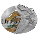 Siskiyou Buckle B43E Montana Eagle Enameled Belt Buckle