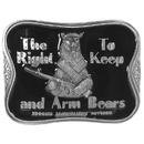 Siskiyou Buckle B45E The Right To Keep and Arm Bears Enameled Belt Buckle