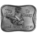 Siskiyou Buckle B45 The Right To Keep and Arm Bears Antiqued Belt Buckle