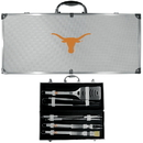 Siskiyou Buckle BBQC22B Texas Longhorns 8 pc Stainless Steel BBQ Set w/Metal Case