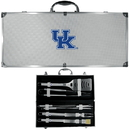 Siskiyou Buckle BBQC35B Kentucky Wildcats 8 pc Stainless Steel BBQ Set w/Metal Case