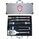 Siskiyou Buckle BBQC39A Indiana Hoosiers 8 pc Stainless Steel BBQ Set w/Metal Case