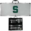 Siskiyou Buckle BBQC41B Michigan St. Spartans 8 pc Stainless Steel BBQ Set w/Metal Case