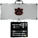 Siskiyou Buckle BBQC42B Auburn Tigers 8 pc Stainless Steel BBQ Set w/Metal Case