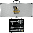Siskiyou Buckle BBQC44B Georgia Tech Yellow Jackets 8 pc Stainless Steel BBQ Set w/Metal Case
