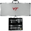 Siskiyou Buckle BBQC61B Virginia Tech Hokies 8 pc Stainless Steel BBQ Set w/Metal Case