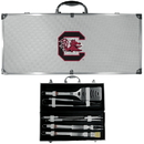 Siskiyou Buckle BBQC63B S. Carolina Gamecocks 8 pc Stainless Steel BBQ Set w/Metal Case