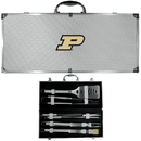 Siskiyou Buckle BBQC84B Purdue Boilermakers 8 pc Stainless Steel BBQ Set w/Metal Case