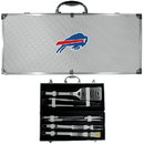Siskiyou Buckle BBQF015B Buffalo Bills 8 pc Stainless Steel BBQ Set w/Metal Case