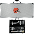 Siskiyou Buckle BBQF025B Cleveland Browns 8 pc Stainless Steel BBQ Set w/Metal Case