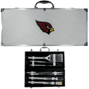 Siskiyou Buckle BBQF035B Arizona Cardinals 8 pc Stainless Steel BBQ Set w/Metal Case