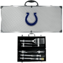 Siskiyou Buckle BBQF050B Indianapolis Colts 8 pc Stainless Steel BBQ Set w/Metal Case