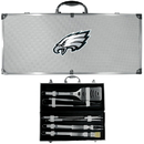 Siskiyou Buckle BBQF065B Philadelphia Eagles 8 pc Stainless Steel BBQ Set w/Metal Case
