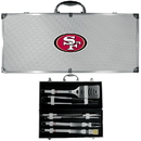 Siskiyou Buckle BBQF075B San Francisco 49ers 8 pc Stainless Steel BBQ Set w/Metal Case