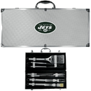Siskiyou Buckle BBQF100B New York Jets 8 pc Stainless Steel BBQ Set w/Metal Case