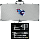 Siskiyou Buckle BBQF185B Tennessee Titans 8 pc Stainless Steel BBQ Set w/Metal Case