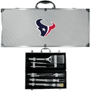 Siskiyou Buckle BBQF190B Houston Texans 8 pc Stainless Steel BBQ Set w/Metal Case