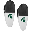 Siskiyou Buckle Michigan St. Spartans Mini Chip Clip Magnets, 2 pk, C2CM41