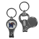 Siskiyou Buckle Memphis Tigers Nail Care/Bottle Opener Key Chain, C3KC103