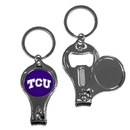 Siskiyou Buckle C3KC112 TCU Horned Frogs Nail Care/Bottle Opener Key Chain