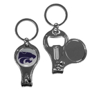 Siskiyou Buckle C3KC15 Kansas St. Wildcats Nail Care/Bottle Opener Key Chain