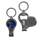 Siskiyou Buckle C3KC21 Kansas Jayhawks Nail Care/Bottle Opener Key Chain